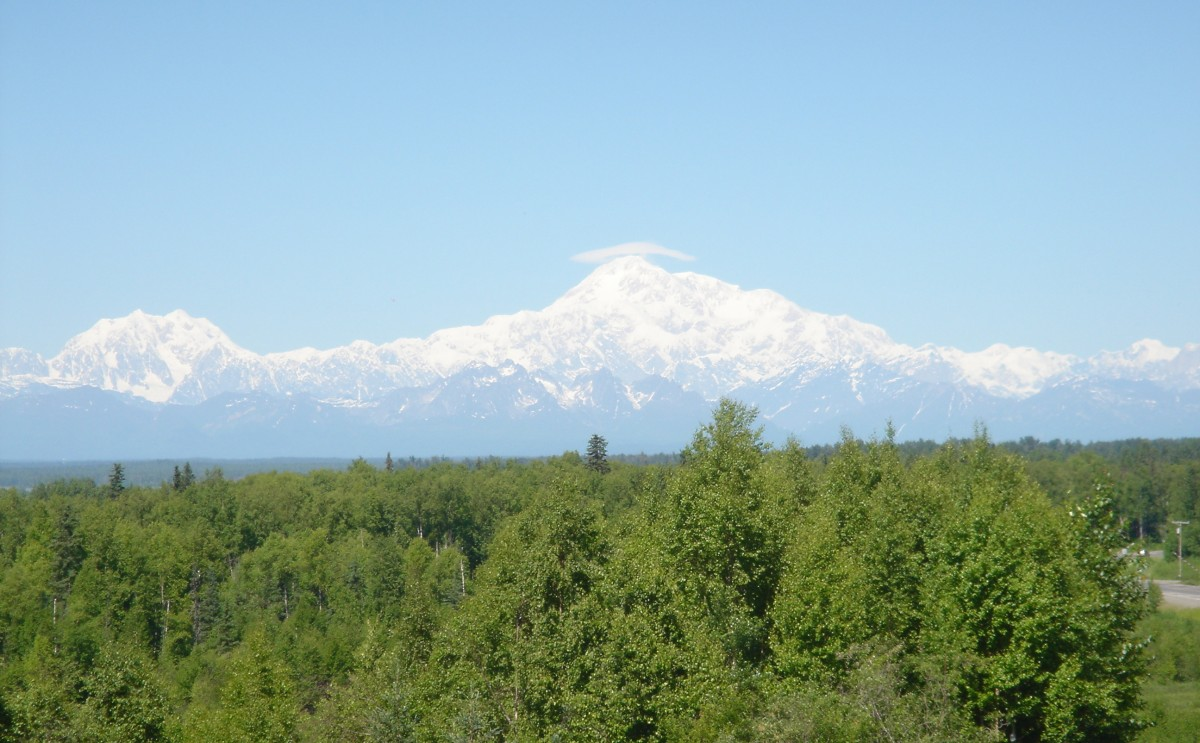 Photo of Mt. McKinley taken by our Alaska expert, Tony Michaels, on one of his many trips to this great State.