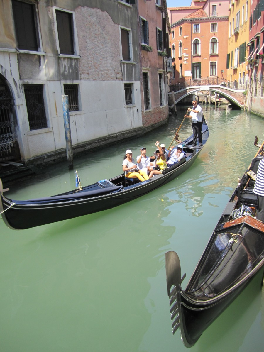 Ride a traditional Gondola through the canals of Venice, Italy.