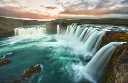 Iceland godafoss waterfall