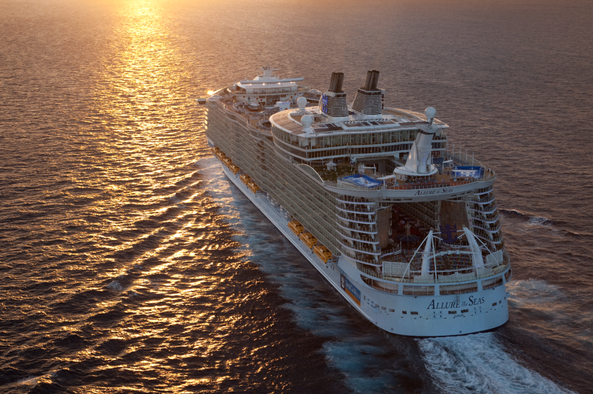 The Allure of the Seas hosts more passengers at sea than any ship, and offers a wide selection of food and entertainment options.
